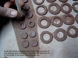 Making disc beads 007
